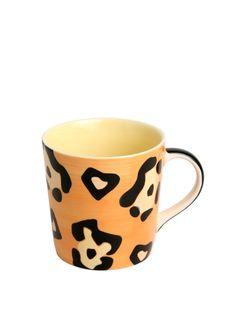 A Loja do Gato Preto   Caneca Leopardo Laranja #alojadogatopreto