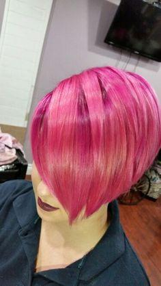 Ombre Hair, Pink Hair, Curly Hair Styles, Natural Hair Styles, Joico Color, Vivid Hair Color, Runway Hair, Coloured Hair, Hair Affair
