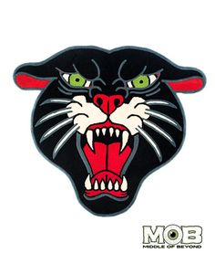 Panther Head Rug