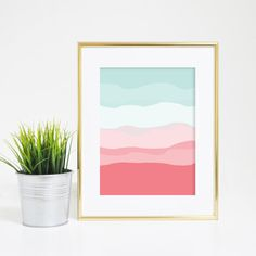 This beautiful mint and coral abstract printable wall art is perfect for your home, office or nursery. Each print is carefully made in California with the highest quality materials, providing for cris
