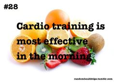 I do my cardio at 8:30 every morning! (Or at least I am starting tomorrow...)