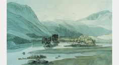 Francis Towne, A Valley in the Lake District by Francis Towne, 1786