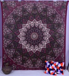 Indian Star Hippie Mandala Psychedelic Wall Hanging Tapestry Throw Ethnic Art XL in Home, Furniture & DIY, Home Decor, Wall Hangings