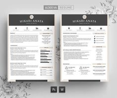 Professional Resume Template Instant Download Resume Template