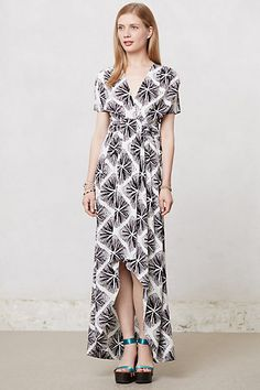 I love the cut and shape of this dress. Good sleeves and hemline. But the pattern doesn't appeal to me at all. #Anthropologie