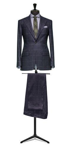 Blue suit Windowpane green http://www.tailormadelondon.com/shop/tailored-2-piece-suit-fabric-4347-windowpane-blue/