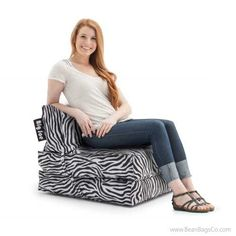 Comfort Research - Big Joe Flip Lounger in SmartMax - Zebra | On SALE: $89.99 + FREE Shipping, Fast Delivery, No Sales Tax!