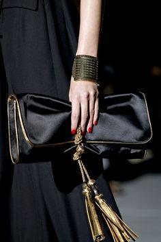 black + gold accessories
