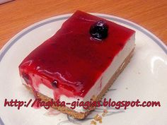 Greek Desserts, Cookie Desserts, Greek Recipes, Mousse, Confectionery, Food Hacks, Creme, Cheesecake, Food And Drink