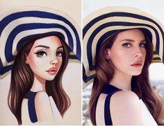A artista russa que transforma celebridades em belas ilustrações - A russa Lera Kiryakova cria ilustrações de celebridades como Beyoncé, Angelina Jolie, Robert Downey Jr. e Leonardo DiCaprio.