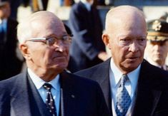 """Former Presidents Truman and Eisenhower at Kennedy's funeral >>> """"Over the years I have come to believe the paroxysms of grief that tormented Robert Kennedy for years after his brother's death arose, at least in part, from a sense that his efforts to eliminate Castro led to his brother's assassination."""" (Harry Truman)"""