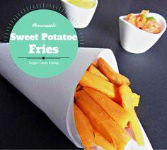 Süßkartoffel-Pommes mit Mangodip und Tomatensalsa