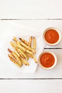 Pommes Frites and Homegrown Tomato Ketchup. We just ran out of ketchup, so I'm excited to try making this!