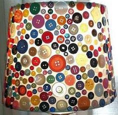 Button Lampshade. I need to start collecting buttons!