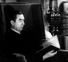 Bela Lugosi reads. http://awesomepeoplereading.tumblr.com