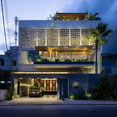 Creative Architecture, House, Vaco, Design, and - image ideas & inspiration on Designspiration Arch House, Facade House, Facade Architecture, Residential Architecture, Facade Design, Exterior Design, Courtyard House, Modern Exterior, Tropical Houses