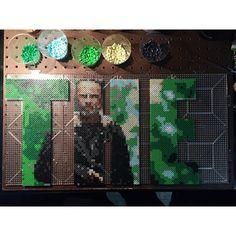 THE - Rick Grimes - The Walking Dead perler bead project by bgkayz