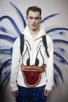 Kit Butler Backstage for Bobby Abley FW16 London...