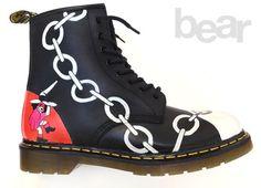 Aangepaste Doc Martens laarzen handgeschilderde - Black Country