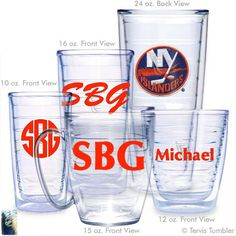 Personalized New York Islanders Personalized Tervis Tumblers