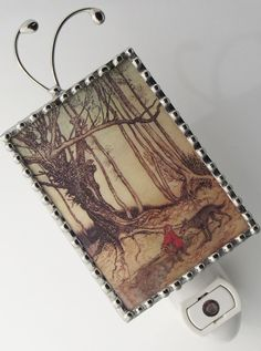 Night Light Red Riding Hood Image  by SwansonGlassDesign on Etsy