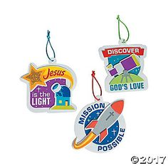 It's never too early to make ornaments from the heart – even if it's during a summer VBS art lesson. Featuring three separate space-themed ...