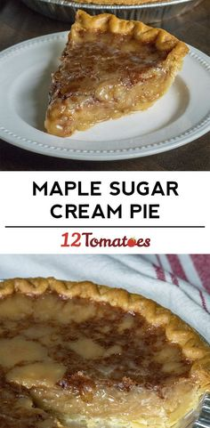Maple Sugar Cream Pie by Kyle Emery said it was amazing You'll be hooked on the creamy filling! Sugar Cream Pie Recipe, Cream Pie Recipes, Köstliche Desserts, Delicious Desserts, Maple Dessert Recipes, Lemon Desserts, Plated Desserts, Pie Cake, Sweets