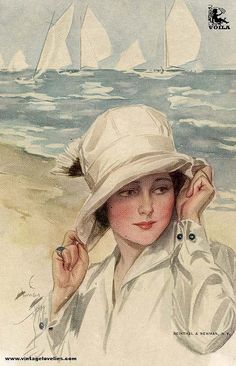 Lovely VIntage Seaside lady.