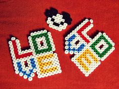 Love hama beads by vero manualidades
