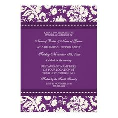 ShoppingPlum White Damask Rehearsal Dinner Party InvitationsThis site is will advise you where to buy