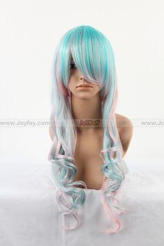Joyfay Wig http://www.joyfay.com/us/lolita-pink-and-blue-cosplay-wig-cosplay-accessory.html