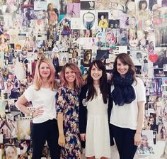 loooove these ladies!! last shot in front of the inspiration wall.