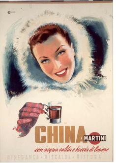 China Martini Donna con cappuccio di pelo - M. Rossi 1950