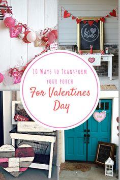 Valentines day, Valentines day porch, porch decor, winter decorating, valentines day decor, popular pin, DIY, DIY holiday