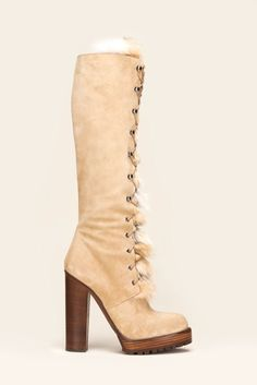 fall 2012, Michael Kors, shoes, boots + booties, beige