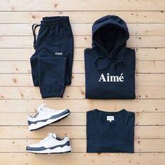 sunday blue💤 #AimeLeonDore hoodie & sweatpants / #NorseProjects tee / #Nike spiridons . #outfitgrid Outfit Grids Dennis Todisco #leondore #aiméleondore #nikespiridon #nikezoom #aime #cozy #teamcozy #ootd #outfitoftheday #streetwear #streetfashion #streetstyle #mensfashion #menswear #casuals #casualstyle #waywt #wdywt #basementapproved #fashion #outfit #streetbeast