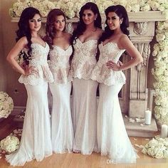 Lace Tulle Mermaid Long Country Beach Bridesmaid Dresses 2017 Sweetheart Peplum Backless Cheap Brides Maid Wedding Guest Gown New Bridesmaid Dresses Cheap Bridesmaid Dresses Long Maid of Honor Dress Online with $124.0/Piece on Magicdress2011's Store | DHgate.com