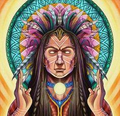 Rainbow Warrior, Native American Images, American Spirit, Visionary Art, Native Art, Wallpaper, Painting Inspiration, Namaste, Psychedelic