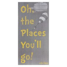 Oh The Places You'll Go Canvas Map 18x24