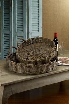 Natural Willow Basket Trays