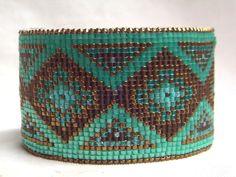 Kathleen Brannon -- turquoise / Chocolate cuff