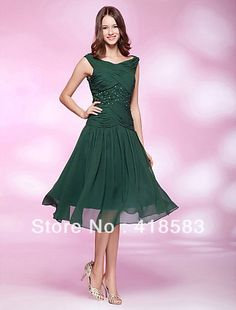 Stunning Sheath/Column scoop neck Chiffon Sequin Knee length Mother of the Bride Dresses