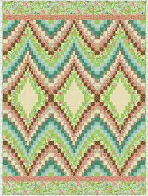 Here are free patterns for bargello quilts ! The bargello technique can be used to create backgrounds for applique, to showcase landscape pr. Colchas Quilt, Bargello Quilt Patterns, Bargello Quilts, Quilt Block Patterns, Jellyroll Quilts, Quilting For Beginners, Quilting Tutorials, Quilting Designs, Butterfly Quilt