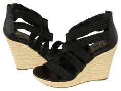 Whether you are in the desert or the heart of downtown, flaunt it in the Jessica Simpson Cactus wedge sandals.Elasticized fabric upper in a dress platform wedge sandal style with an open toeCrisscrossing vamp and instep strapsHidden elastic gores, heel cupFaux leather lining, cushioned footbed1 inch platform midsoleRubber traction outsole4 inch wedge heel http://www.amazon.com/dp/B004CVU2PG/?tag=icypnt-20