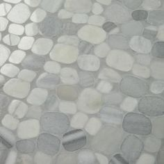 Daltile Stone Decor Shadow 12 in. x 12 in. x 10 mm Marble Pebble Mosaic Floor and Wall Tile sq./ - The Home Depot Pebble Mosaic Tile, Pebble Floor, Ceramic Wall Tiles, Marble Mosaic, Marble Wall, Stone Mosaic, Shower Floor Tile, Mosaic Pots, Pebble Stone