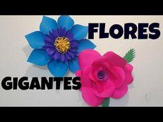 Flor de papel GIGANTE ❁FOZITA INIESTA❁ - YouTube                                                                                                                                                                                 Más
