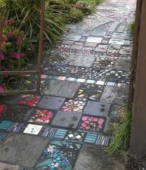 Image result for painted concrete garden path