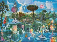 Fantasy World, Fantasy Art, Psychadelic Art, Images Esthétiques, Psy Art, Lowbrow Art, Pop Surrealism, Visionary Art, Fantasy Landscape