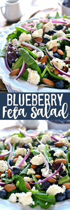 Blueberry feta salad with lemon poppy-seed dressing. | 16 Mom Trends That Are Blowing Up Pinterest