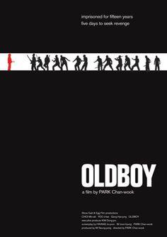 oldboy affiche film minimaliste